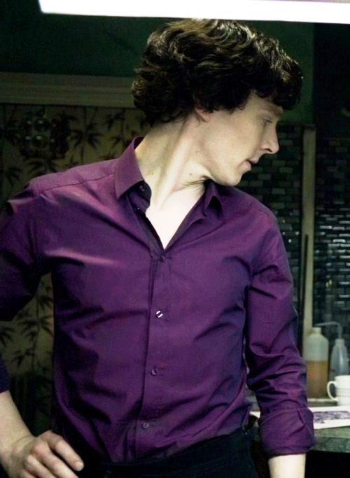 Purple shirt of sex