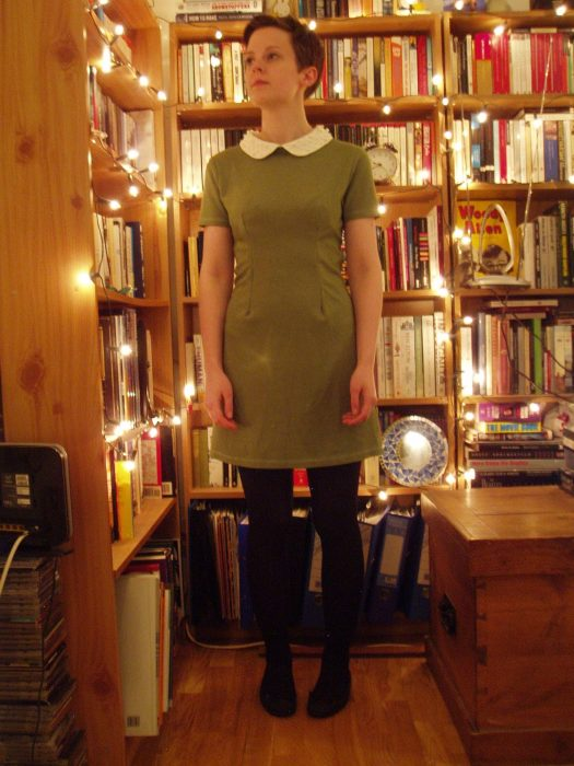 Refashioned Peter Pan Collar Dress