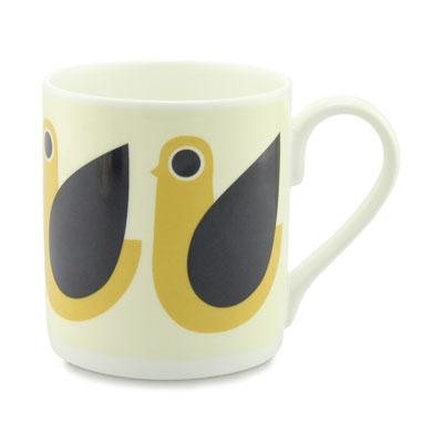 Orla Kiely Henny Hen mug mustard