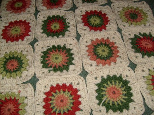 Phoebe's earthy colours blanket