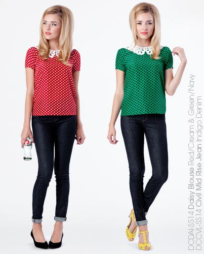 Daisy Blouse - Green or Red