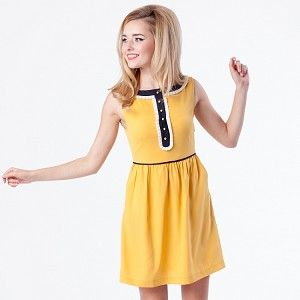Julie Dress - Mustard