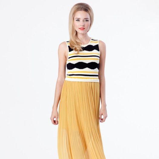 Mojave Maxi Dress - Mustard & Black