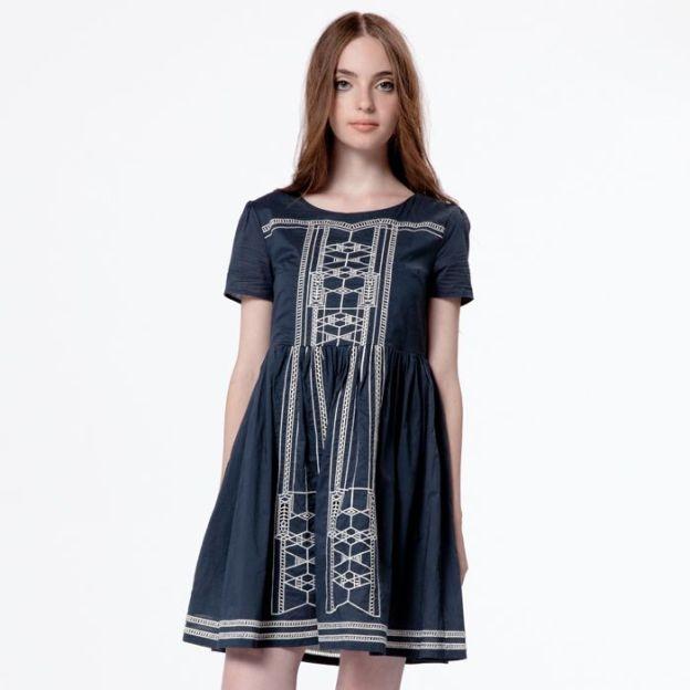 Rennie Dress - Navy