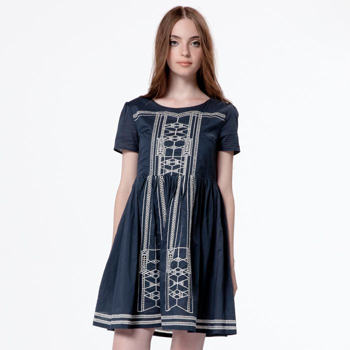 Rennie Dress - Navy