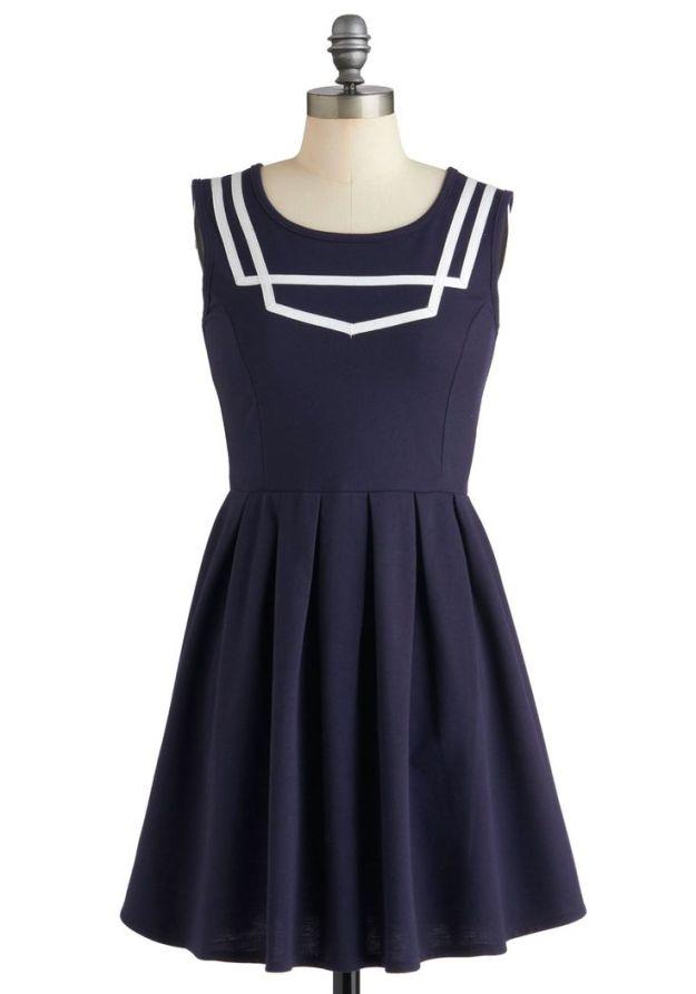 What a Ketch Dress - Navy
