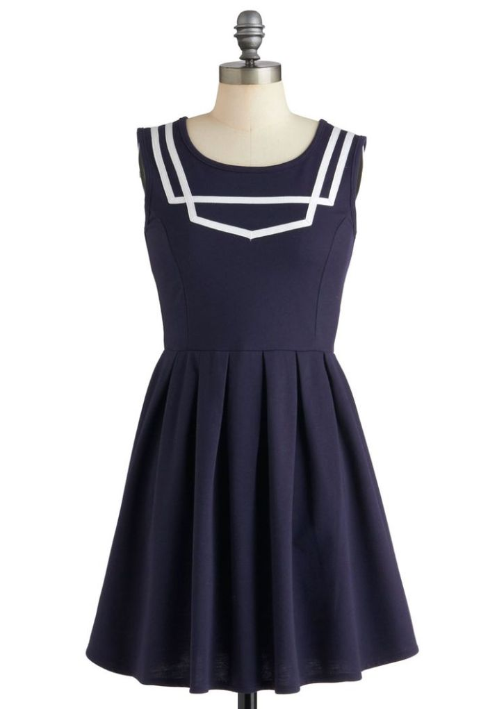What a Ketch Dress - Navy