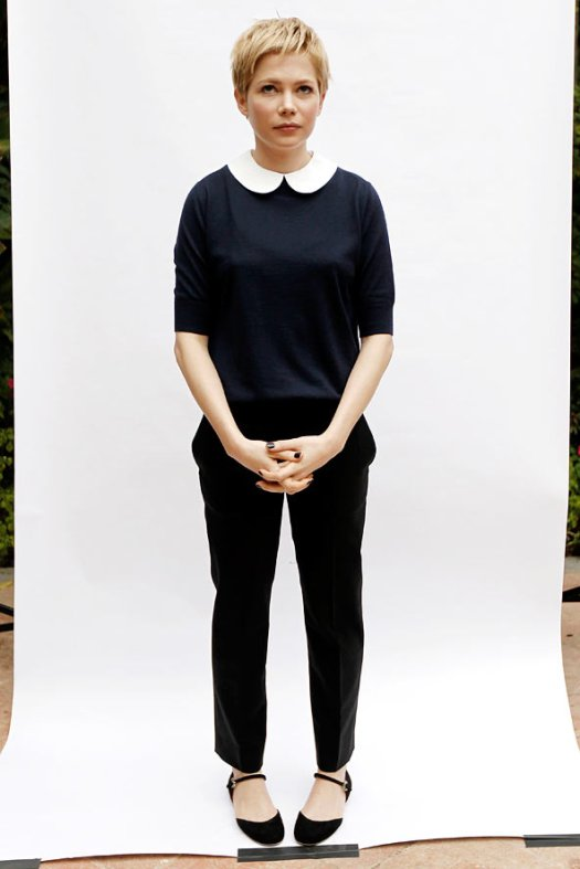 Peter Pan collar top and trousers