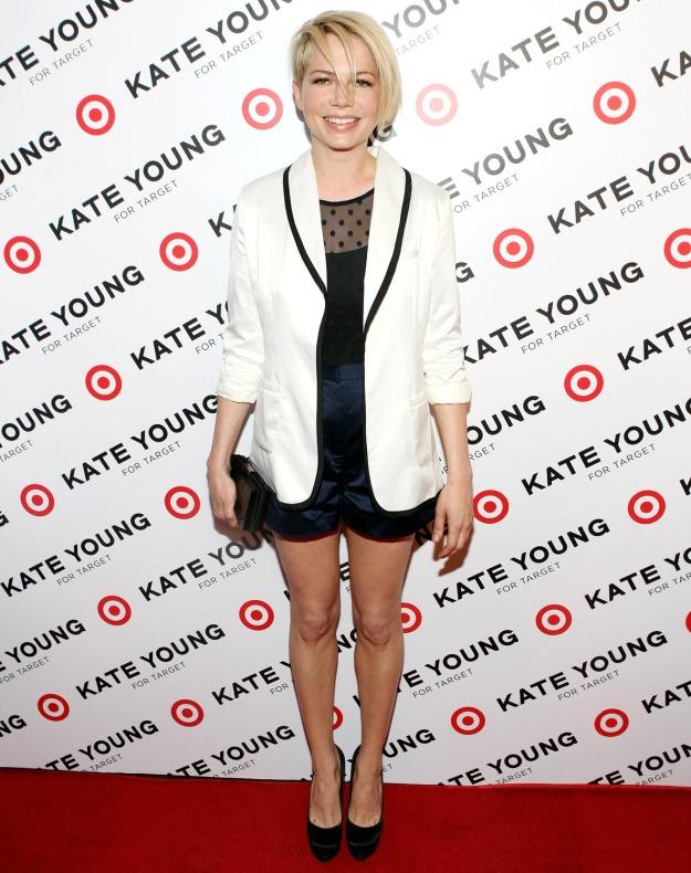 Shorts with White Tuxedo Jacket