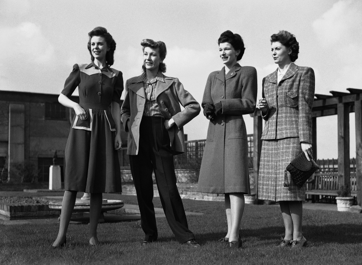 At a famous west end store, Norman Hartnell, Britain's leading dress designer, sponsored a show of the new utility fashions for the coming season , in London. These models, are designed not only for the home market but also to uphold Britain's fashion prestige abroad.