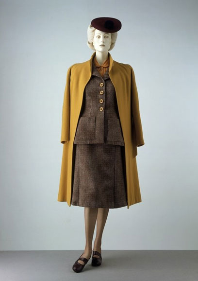 tweed suit, mustard shirt & coat