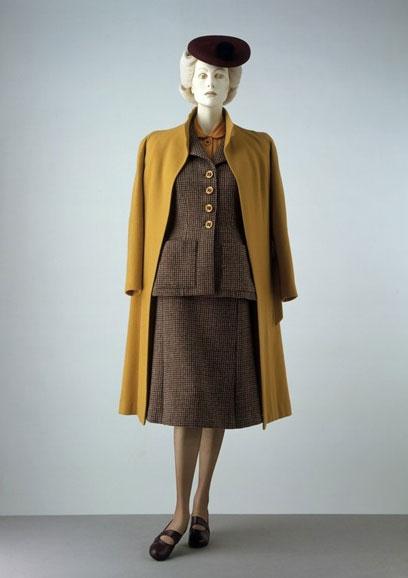 tweed suit, mustard shirt & coat
