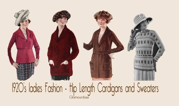 1920 hip length cardigans
