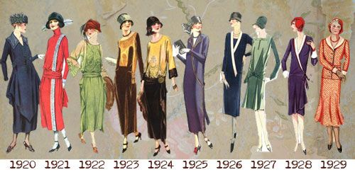 1920s silhouettes