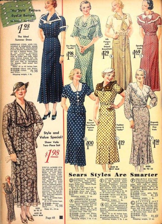 1935 Sears Fashions