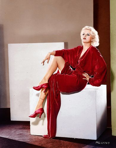 Jean Harlow red gown