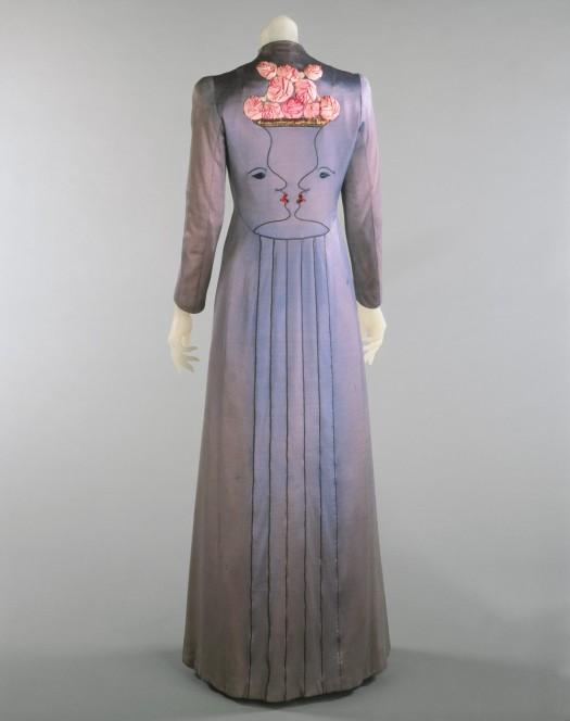 Schiaparelli faces gown