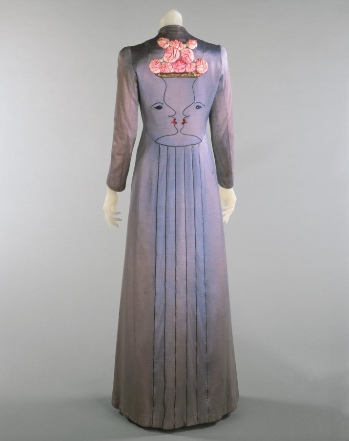Schiaparelli faces gown