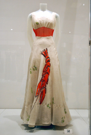 Schiaparelli lobster dress