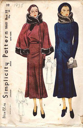 Simplicity Pattern 1860 1930s