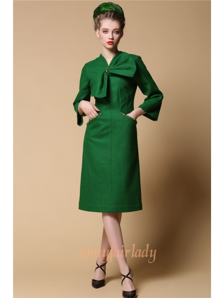 1950s Green Dress with Bow