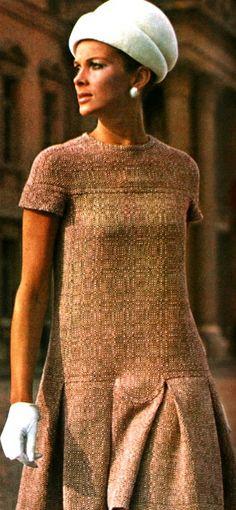 1960s Pierre Cardin Wool Dress