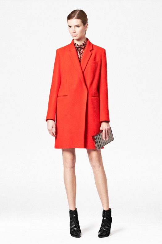 Coral Wool Boxy Coat