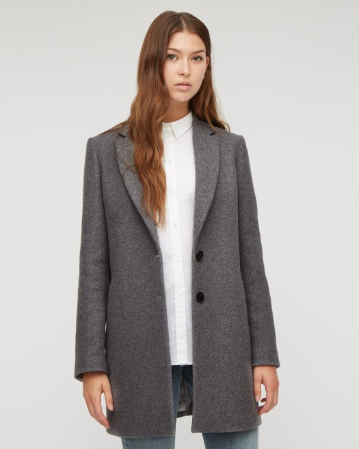 Grey Boxy Wool Jacket