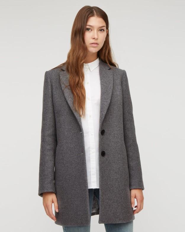 Grey Boxy Wool Jacket