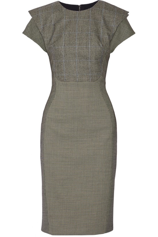 Grey Wool Wiggle Dress