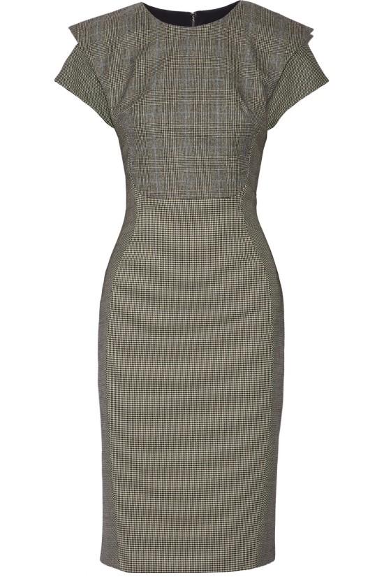 Grey Wool Wiggle Dress