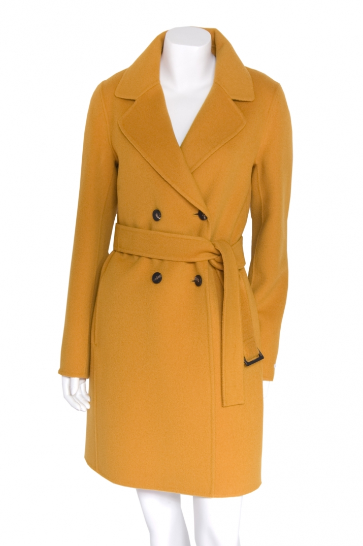 Mustard Yellow Wool Coat