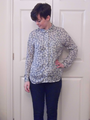 Blue Patterned Melilot Shirt